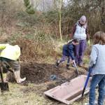 digging the pond - december 2014